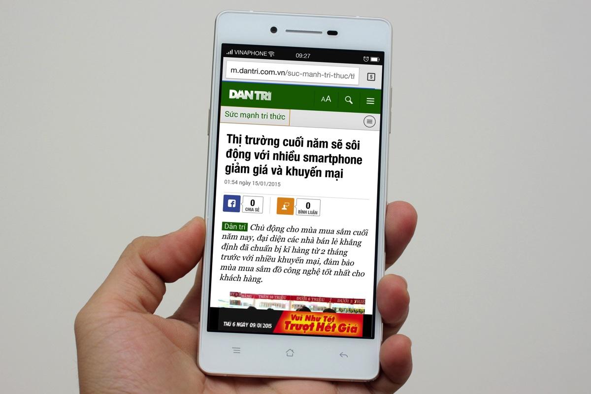 Đập hộp smartphone siêu mỏng Oppo R1k vừa bán ra thị trường
